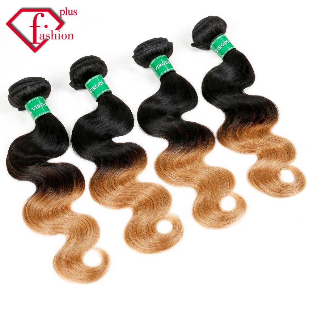 Peruvian virgin hair Omber and natural color #1B #27 1pc/lot Peruvian body wave Grade 7A free shipping<br><br>Aliexpress