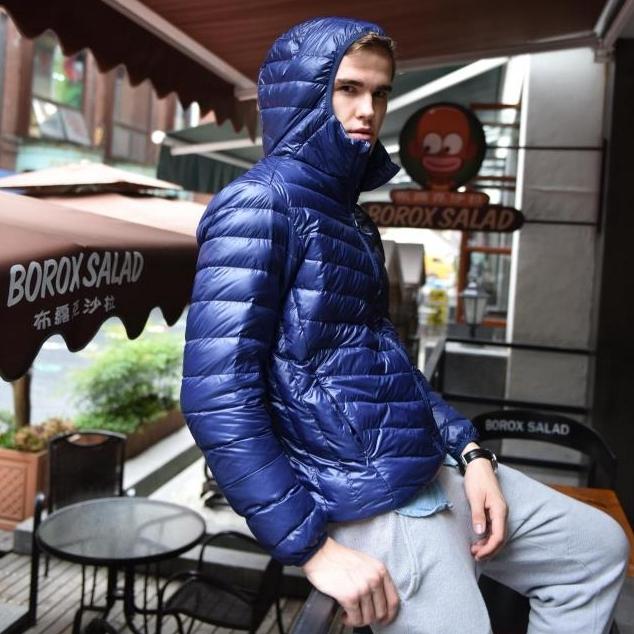 Плюс размер мужчины duck down пальто 2015 новый стиль тонкий слой ультра легкий мужской ...