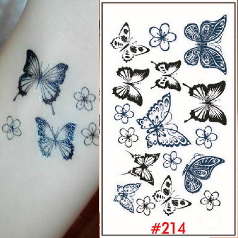 Chinese Tattoo Choker Tattoos Butterfly Tattoo Sticker For Women Body Art Small Waterproof Temporary Tatoos Stickers WTA0214(China (Mainland))