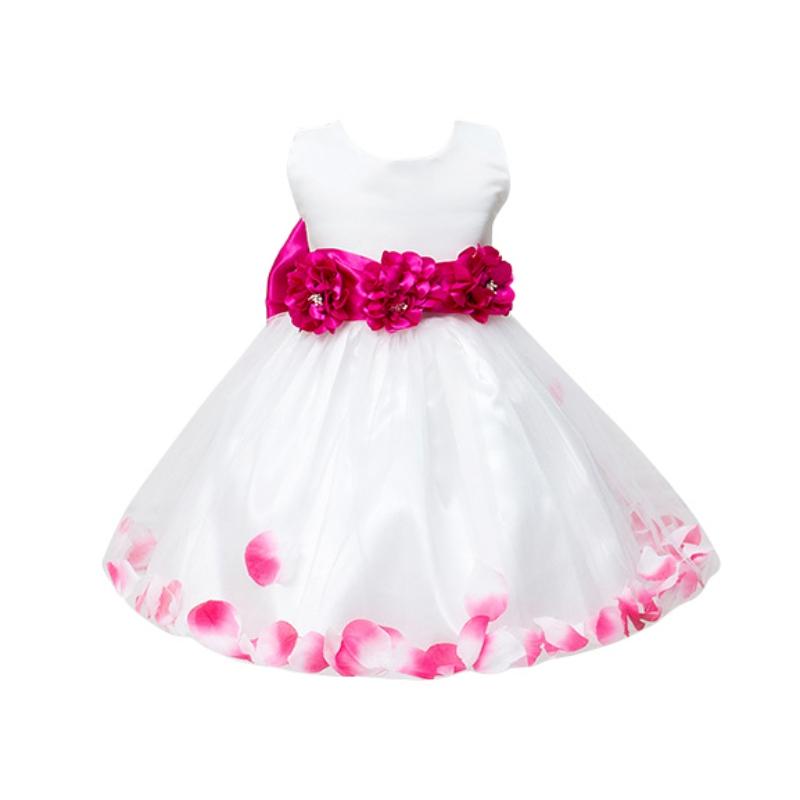 Kids Infant Girls Flower Dress Children Bridesmaid Toddler Elegant Dress Pageant Wedding Bridal Tulle Formal Party Dress(China (Mainland))