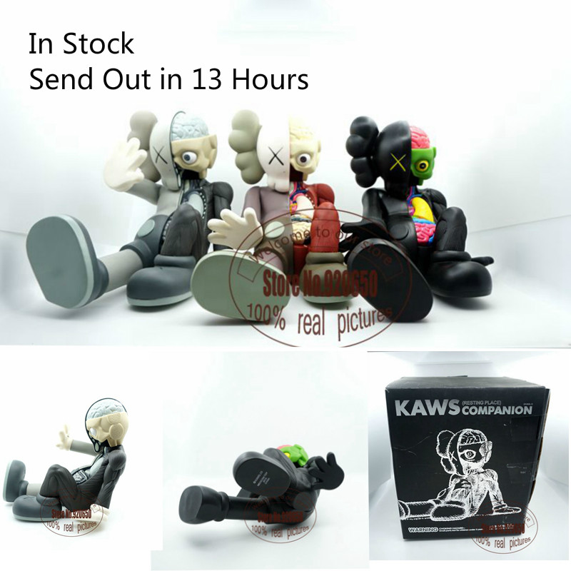 16 inch Kaws Companion kaws original fake black red and grey medicom toy factory prodct 100% real picture(China (Mainland))