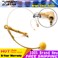 3 5 mm Plug Invisible Flesh Color Headworn Dual Ear Hook Mic Headset Microphone For Computer