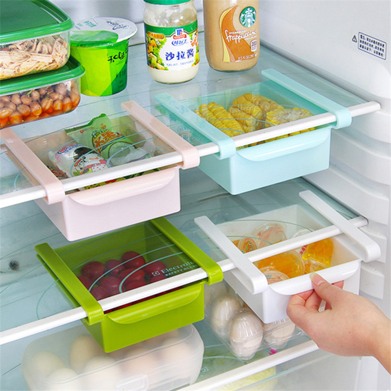 New Multi-purpose storage rack creative Partition Refrigerator fresh spacer layer storage Pull-out Drawer chicken sets(China (Mainland))