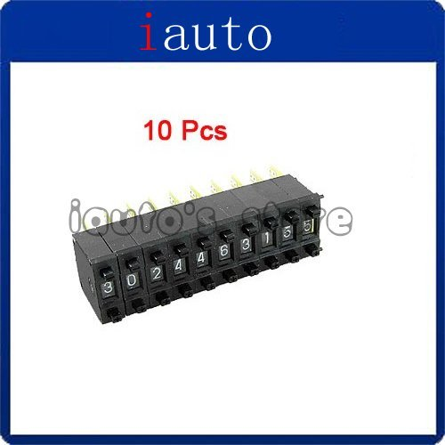 10 in 1 Digits Units Electronic Pushwheel Thumbwheel Switch