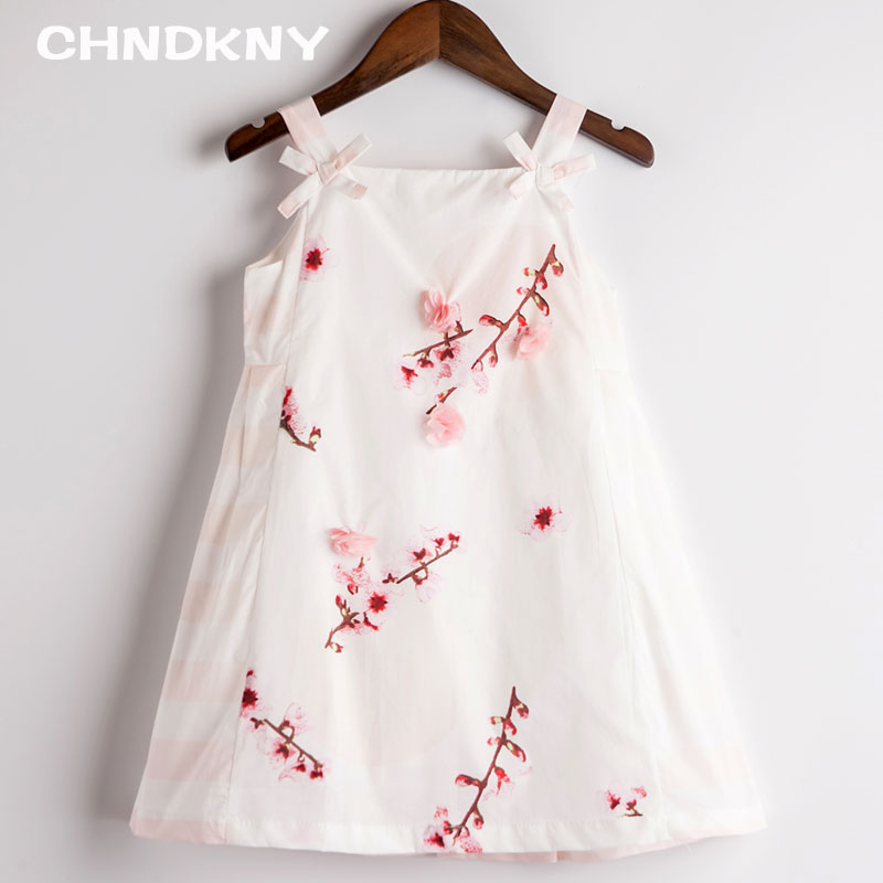 Baby Girls Summer Dresses New Brand Children Print Party Costumes Kids Evening Princess Dresses for Girls Clothes(China (Mainland))