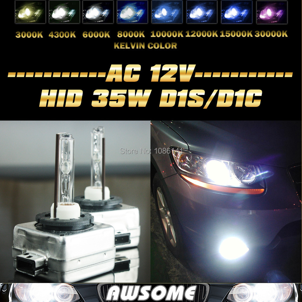 35W D1S D1C HID Xenon Bulb Lamp 4300k 6000k 8000k 12000k replacement Car Headlights Fit For A3 A4 Q7 R8 RS4 S4 TT Quattro(China (Mainland))