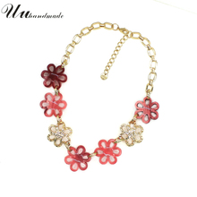 Buy Statement Necklace Collier Choker Jewelry Kolye Collares Necklaces & Pendants Flowers 2016 New Women Femme Colar Feminino for $10.00 in AliExpress store