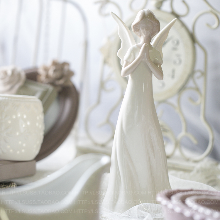aliexpresscom buy 2015 new outside the single ceramic angel ornaments porcelain doll even home decorations crafts gifts small angel from reliable angel - Angel Decorations