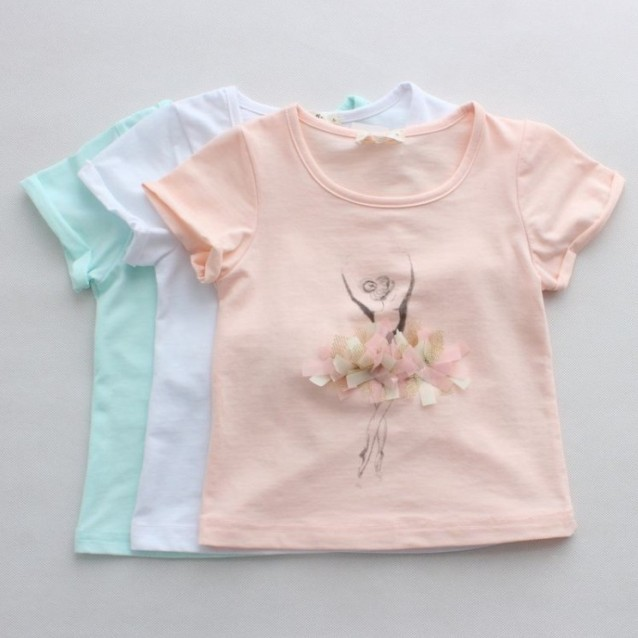 Free shipping,3 Colors,2014 New Summer,Girls shirt,Children shirt,Children/kids clothes,Tops,tees,Wholesale,0905<br><br>Aliexpress