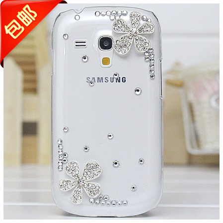 Five flower case cover for Samsung galaxy s3 S3mini I8190 mobile phone shell protective sleeve diamond case(China (Mainland))