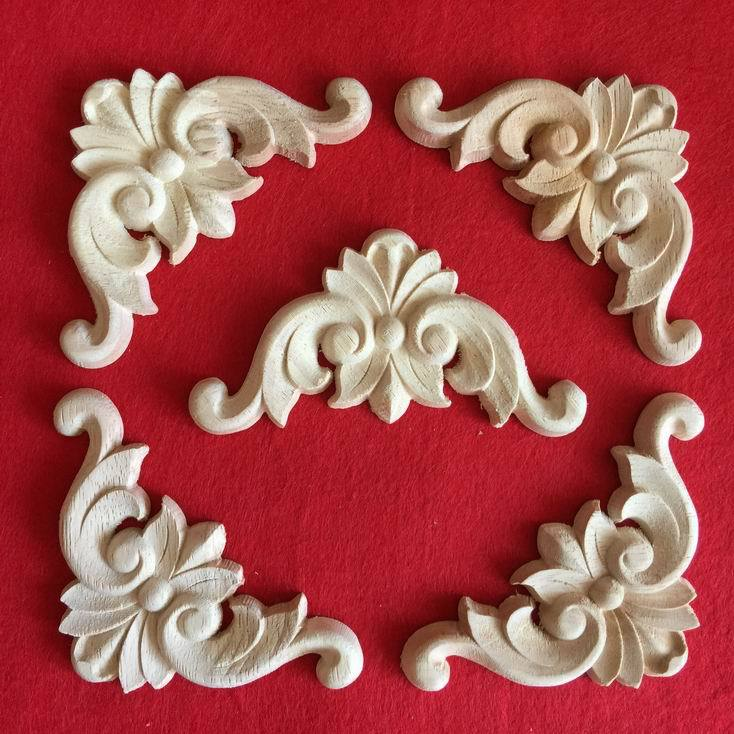 Fashion corners wood carved motif wood shavings smd furniture door cabinet door applique dongyang wood carving(China (Mainland))