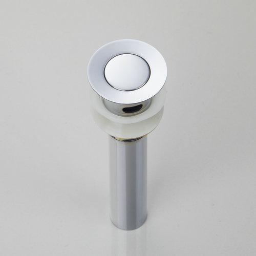 Polished Pop up Drains Sink Waste Drain W/O Overflow Silver 5708A Bathroom Flat<br><br>Aliexpress