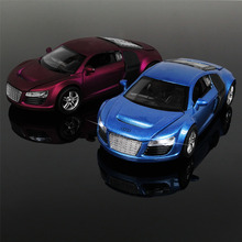 Buy 1:32 Kids Toys AUDI R8 Metal Toy Cars Model for Children Music Pull back Car Miniatures Gifts for Boys for $10.00 in AliExpress store