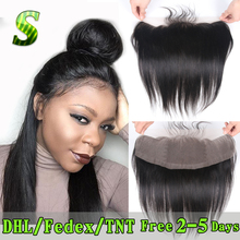 Brazilian Lace Frontal Closure 13x4 Straight Ear To Ear Lace Frontals With Baby Hair Virgin Human Hair Full Frontal Lace Closure(China (Mainland))