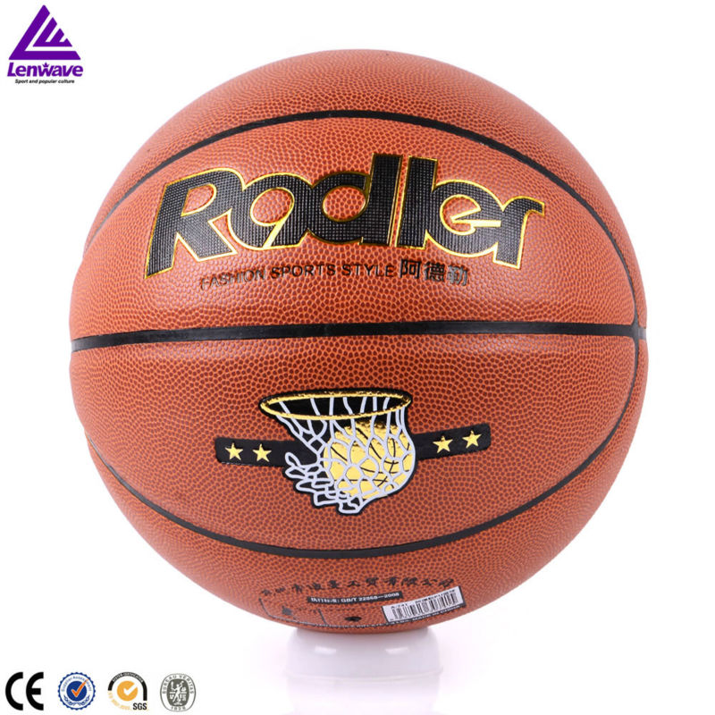 7 # outdoor basketball PVC ball free and net bags and needle Adler basketball ball(China (Mainland))
