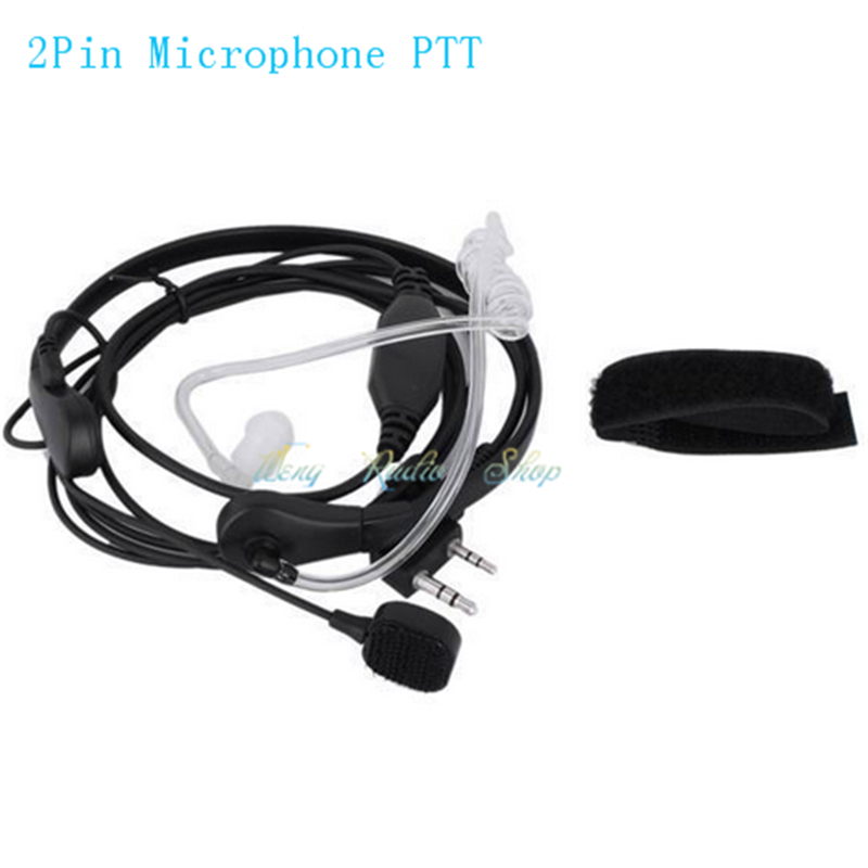 Throat Vibration Mic finger PTT Headset Earpiece for Walkie Talkie Baofeng UV-5R UV-5RE UV-82 Wouxun Two-way Radio Microphone(China (Mainland))