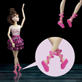 5pairs/lot Barbie Dolls Blended Trend Colourful Footwear Heels Sandals Doll Equipment For Barbie Doll Lady's Present Children Toy