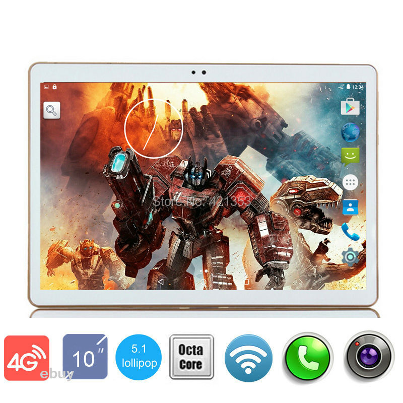 2016 DHL Free Shipping 10 inch Octa Core 3G 4G Lte Tablet PC 4GB/32GB Android 5.1 IPS GPS 5.0MP 3G WCDMA Dual Sim Cards Tablet(China (Mainland))