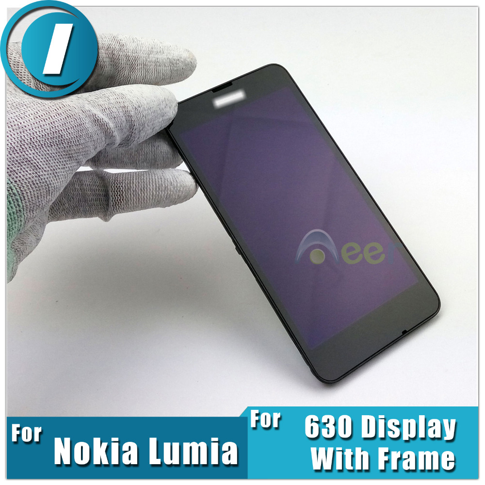 Newest LCD Display and Touch Screen Digitizer Assembly With Frame For Nokia Lumia 630 635 Biack Repair Replacement Parts(China (Mainland))
