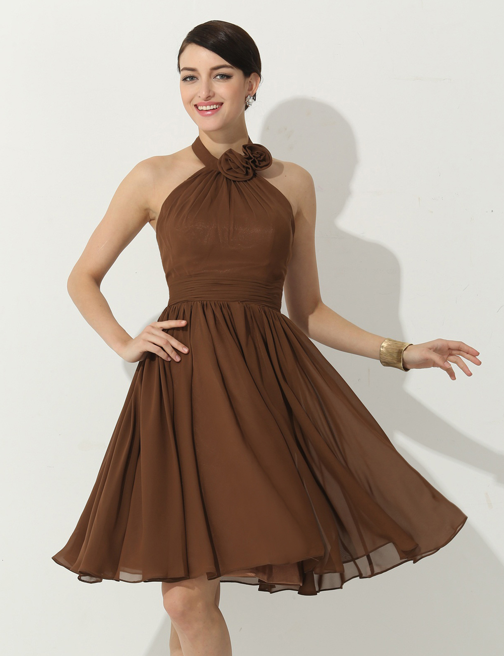 Popular short brown bridesmaid dresses buy cheap short for Brown dresses for wedding