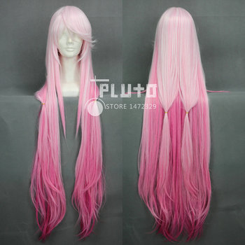 [Guilty Crown] Yuzuriha Inori / Inory Pink Color Gradient Assembly Version Straight Long 110cm Cosplay Wig
