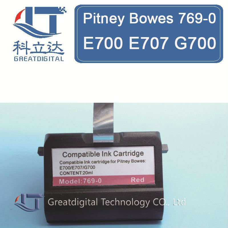Compatible Pitney Bowes Red Ink Cartridge 769-0 E707 E726 E700 G700 769-0R<br><br>Aliexpress