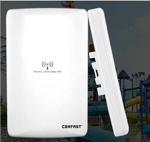 COKMFAST new arrival wireless outdoor CPE 300Mbps ATHEROS AR9341 wi-fi access point router with dual 16dBi antenna 48V POE(China (Mainland))