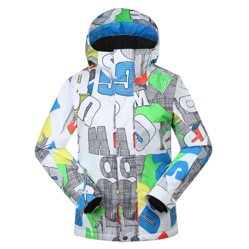 Gsou Snow Boys Waterproof Ski Jacket Kids Snowboard Jacket Colorful Ski Coat(China (Mainland))