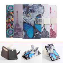 Buy wallet style fashion colored painting pu leather flip cover case Lenovo Vibe S1 magnetic phone shell stand function for $4.99 in AliExpress store