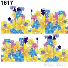 Summer Style Beautiful Flowers Nail Art Nail Decals Water Transfer Stickers Decoration Hot
