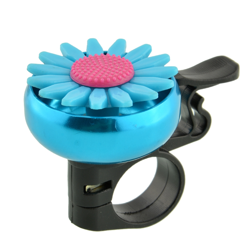 Flower Decoration Bicycle Handlebar Ring Horn Bike Cycling Sound Ring Alarm Metal Safety Bike Accessories Multi Colors 6149