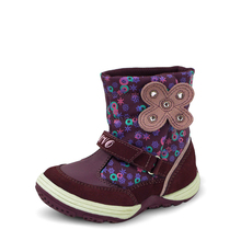 UOVO 2016 Floral Autumn Winter Little Girls Boots Splash proof Kids Boots Ankle Shoes For Girls Baby Children Shoes