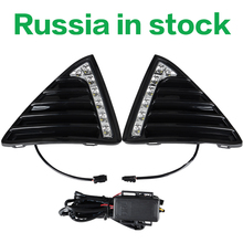 LED DRL Daytime Running Lights Gloss Style Fog Lamp With Turn off And Dimmer Function Case For Ford Focus 3 2012 2013 2014 2015(China (Mainland))