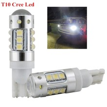 Buy 2Pcs/Lot New Extremely Bright Car 912 921 T10 W5W 80W CREE Chips LED Back Reverse Lights Parking Lights Xenon White Color for $22.08 in AliExpress store