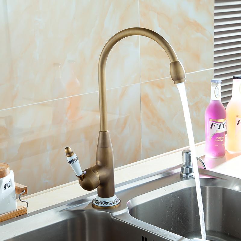 Ottone antico rubinetto della cucina acquista a poco - Rubinetti bagno ottone ...