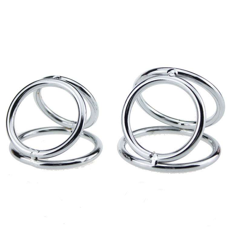 Metal cock ring penis jewelry steel lock ring stainless steel penis ring sex toy for men(China (Mainland))