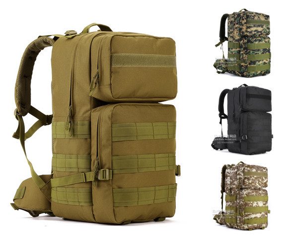 55L Tactical Military Backpack Molle Camouflage Men Outdoor Travel Sports Bag Hunting Camping Hiking Large Army Backpack(China (Mainland))