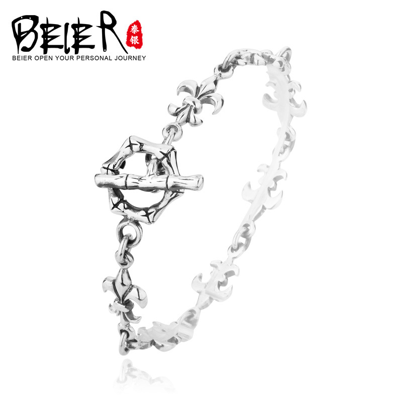 925 Sterling Silver Solid Silver Gothc Style Cross Bracelet Chain for Woman and Man Free Shipping SCTYSL009<br><br>Aliexpress
