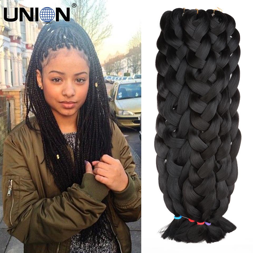 42inch 165g kanekalon jumbo braids xpression braiding hair expression braiding hair black synthetic braiding hair extension(China (Mainland))