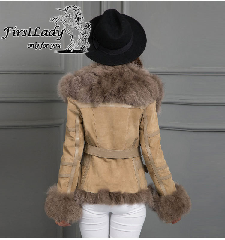 Real fox collars real leather jacket 14