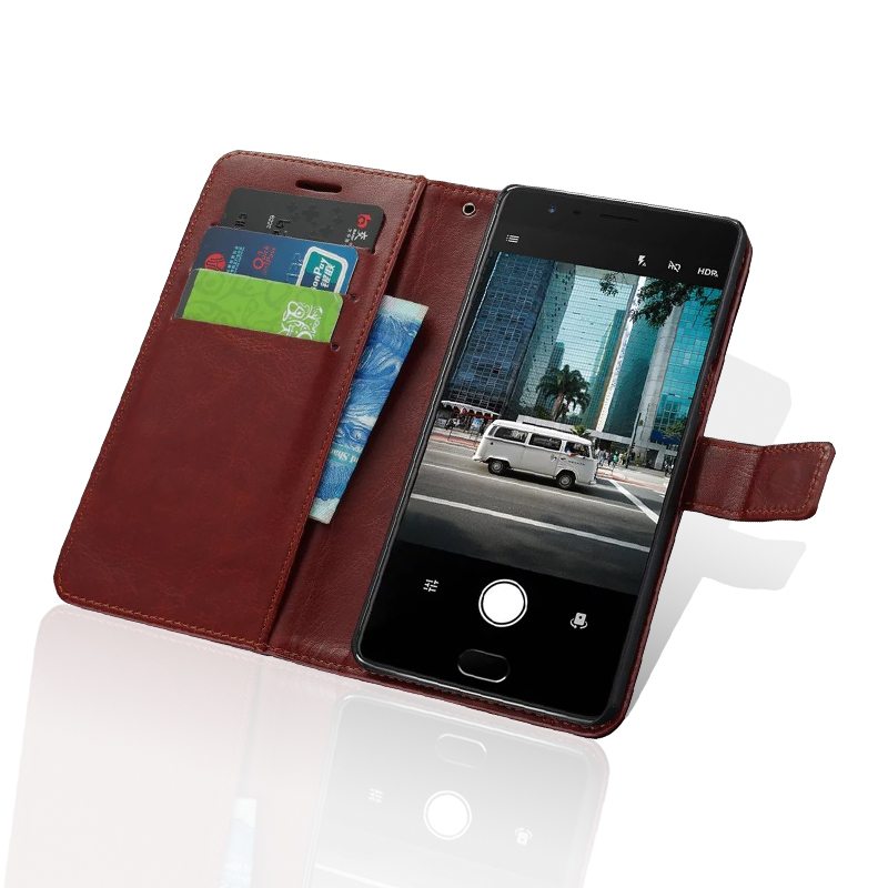 High Quanlity Leather Case For Oneplus Three 3 Case Wallet Leather Flip Cover Card Slot with Stand Function One plus Three Case(China (Mainland))