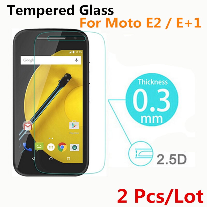 2 Pcs Premium Tempered Glass Screen Protector for Motorola for MOTO E2 E 2nd Gen Gen2 XT1527 Protective Film, 4.5 inches(China (Mainland))