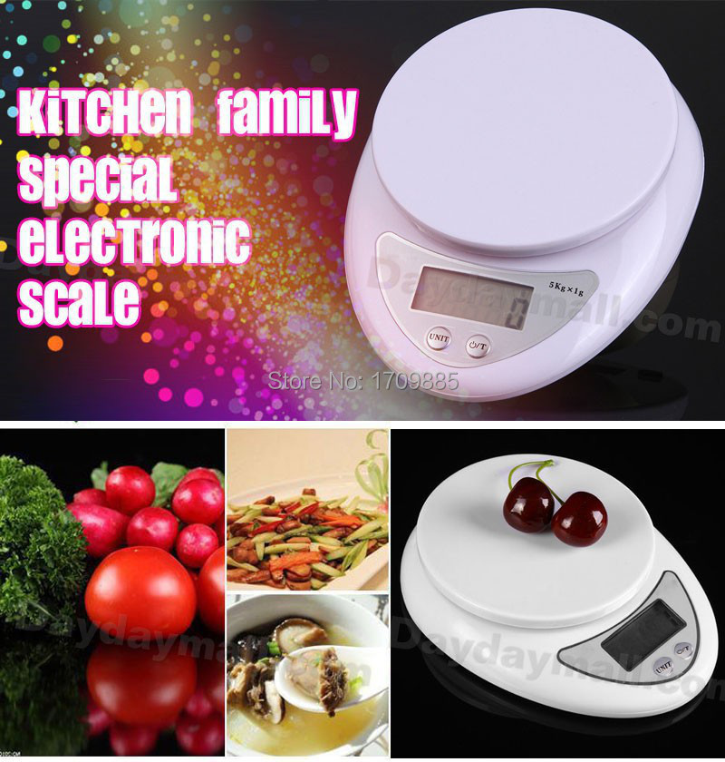 Best selling Brand new 5000g/1g 5kg Food Diet Postal Kitchen Digital Scale scales balance weight weighting LED electronic Free(China (Mainland))