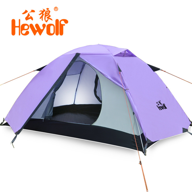 Hot Selling 2 People Camping Tents Outdoor High Grade Tent One Or Two aluminium tent Travelling Camping & Hiking Tents 1595(China (Mainland))