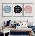 Nordic Minimalist Small and pure and fresh combination wall Poster Quotes halloween and christmas Painting Kids Room Home Decor