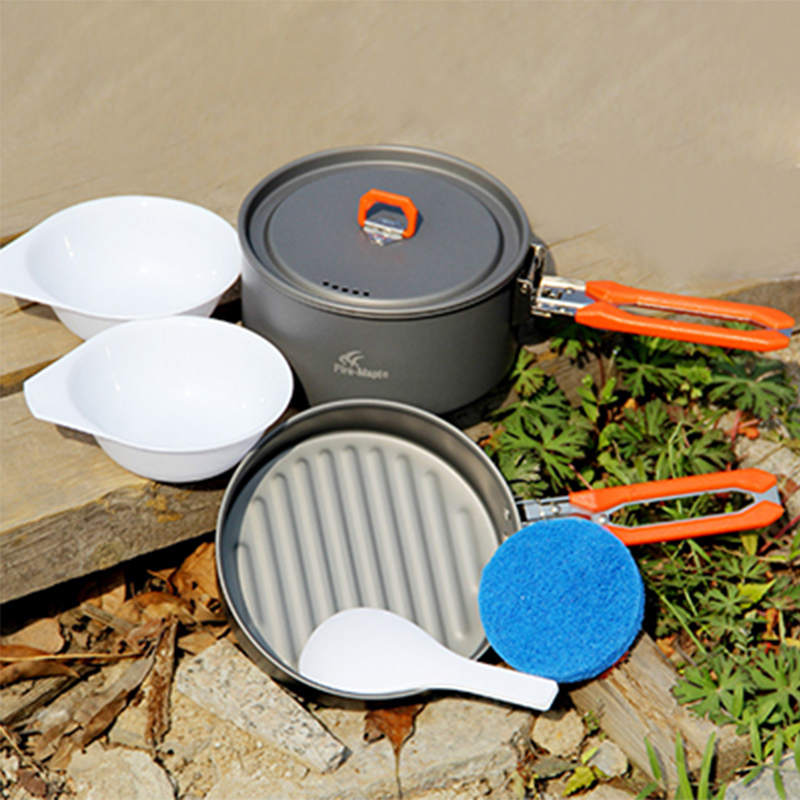 Camping Cutlery 1-2 Person Camping Cooking Set For Hiking Camp Picnic Cook Set Utensils For Tourism Fire Maple Feast-1(China (Mainland))