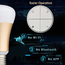 E27 Battery-free Wireless Switch & Dimmable LED Bulb Remote Control Eco-Friendly Indoor Lights for Home Living Room Bedroom(China (Mainland))
