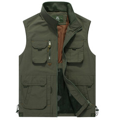 Men Vest Coat Manteau Homme Brand Clothing 2016 Spring Casual Zipper Cargo Vests Mens Outdoor Sleeveless Jackets Waistcoat