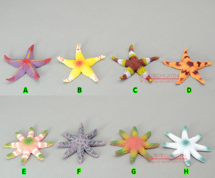 Small animal models of solid toy! Colorful starfish Action & Toy Figures collections Decoration(China (Mainland))