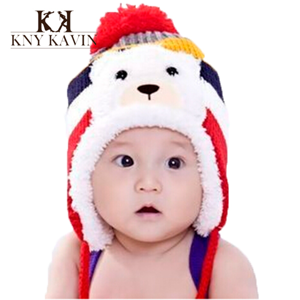 New 2014 Christmas beanie hat plus velvet baby ear protector cap thickening Thermal winter Warm fashion baby hats caps(China (Mainland))